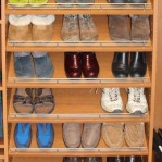 Slanted Shoe Shelves